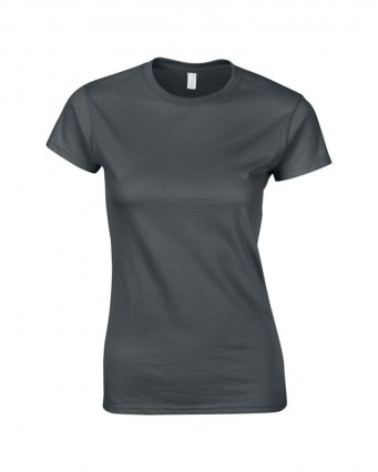 ladies fitted t shirt charcoal