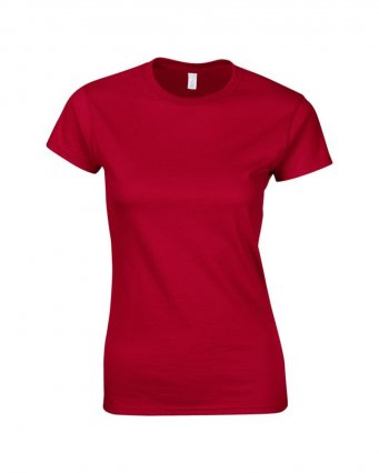ladies fitted t shirt cherry red