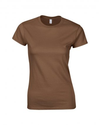ladies fitted t shirt chestnut