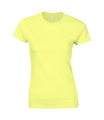 ladies fitted t shirt cornsilk