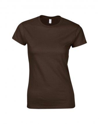 ladies fitted t shirt dark choc
