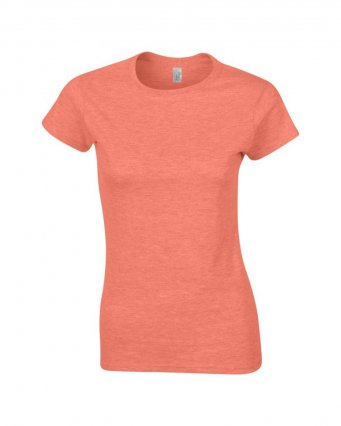ladies fitted t shirt heather orange