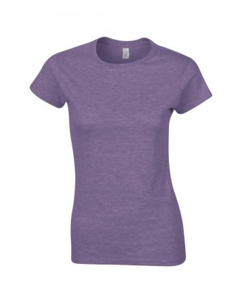 ladies fitted t shirt heather purple
