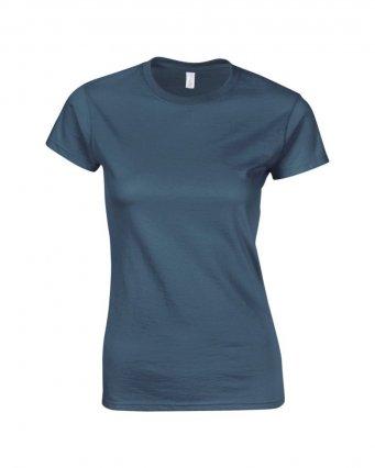 ladies fitted t shirt indigo