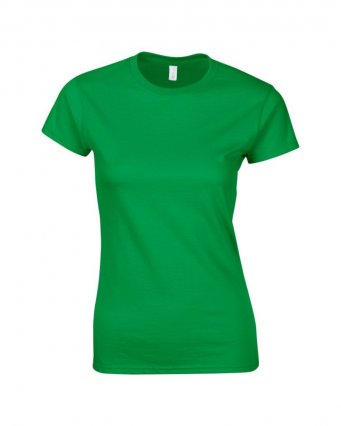 ladies fitted t shirt irish green