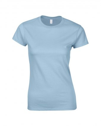 ladies fitted t shirt light blue