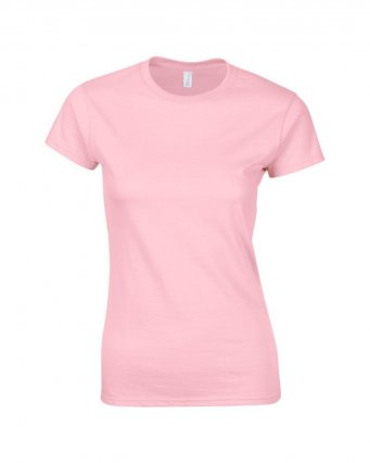 ladies fitted t shirt light pink