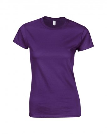 ladies fitted t shirt purple