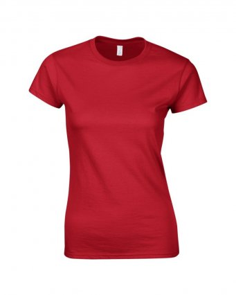 ladies fitted t shirt red
