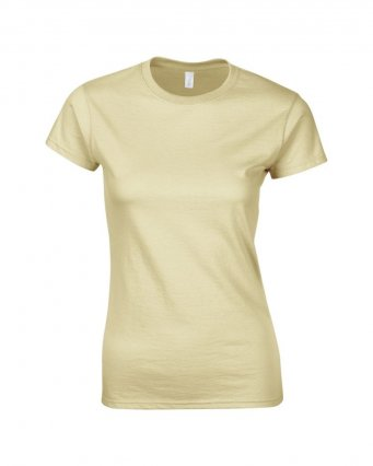 ladies fitted t shirt sand