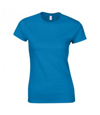 ladies fitted t shirt sapphire