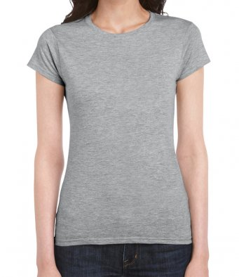 ladies fitted t shirt sport grey