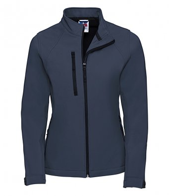 ladies french navy classic softshell jacket