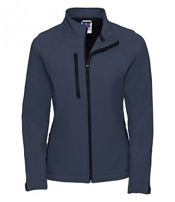 ladies french navy classic softshell jacket