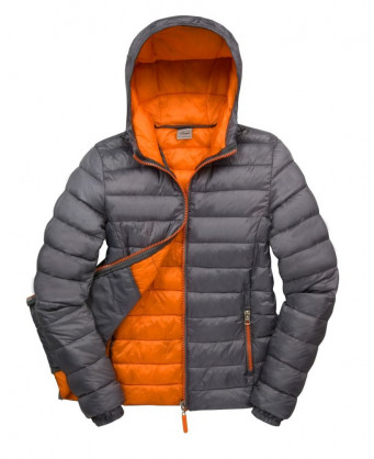 ladies greyorange padded work jacket