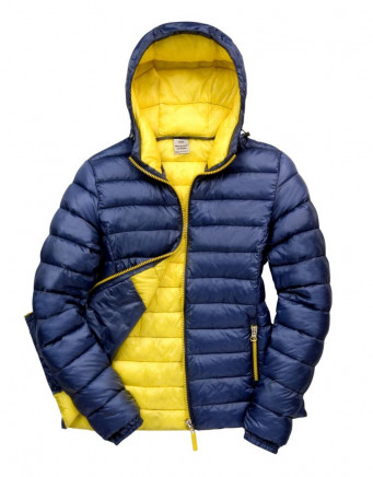 ladies navyyellow padded work jacket