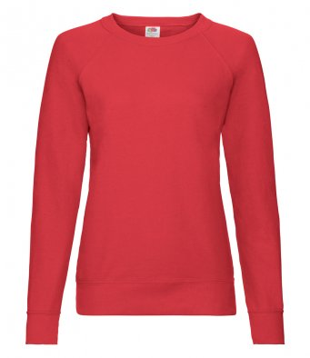 ladies red sweatshirt