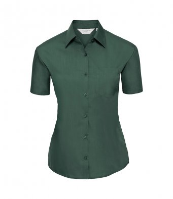 ladies short sleeve bottle poplin