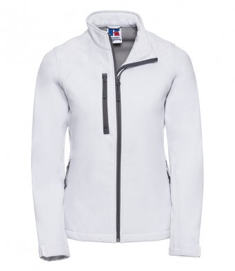ladies white softshell jacket