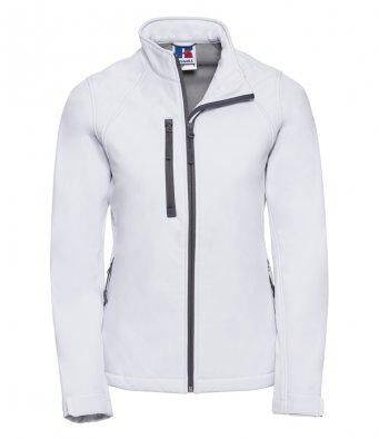 ladies white softshell jacket