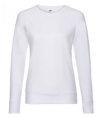 ladies white sweatshirt