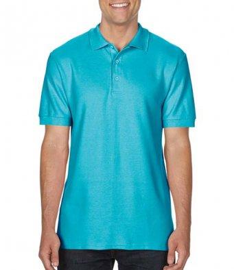 lagoon blue premium cotton polo shirt
