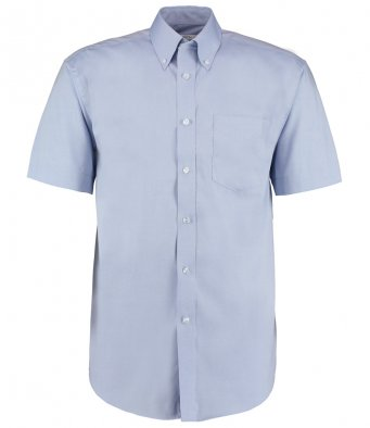 light blue oxford short sleeve shirt