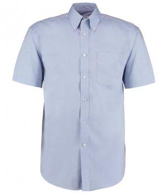 light blue oxford short sleeve shirt