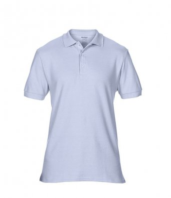 light blue premium cotton polo shirt
