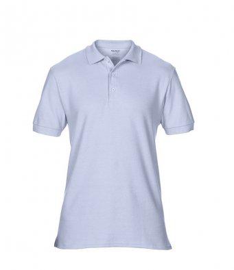 light blue premium cotton polo shirt