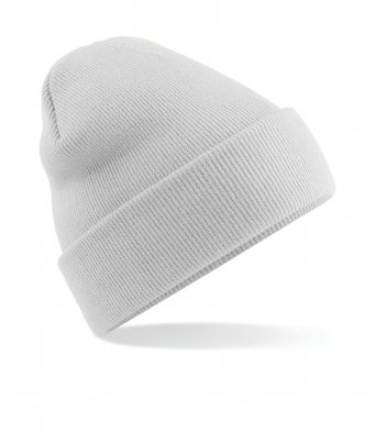 light grey cuffed beanie