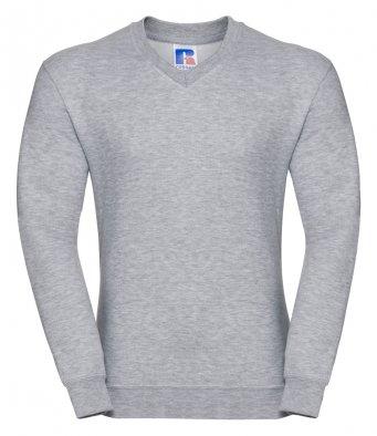 light oxford v neck sweatshirt