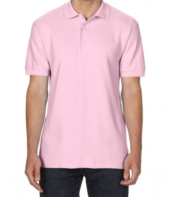 light pink premium cotton polo shirt