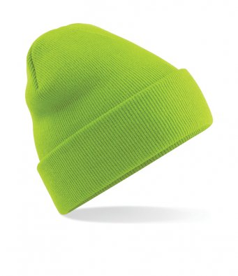 lime green cuffed beanie
