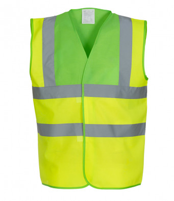 lime yellow hi vis vest