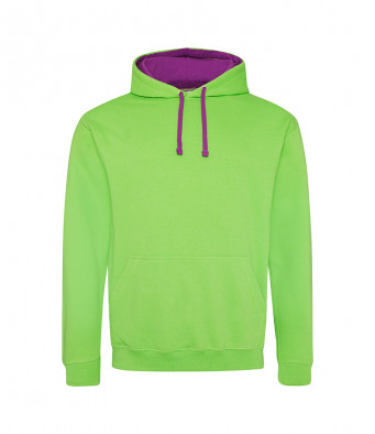 limegreen magentamagic contrast hoodies