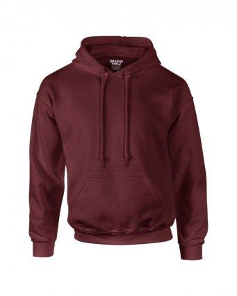 maroon premium overhead hoodie