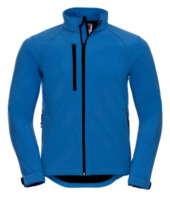 mens classic softshell azure jacket