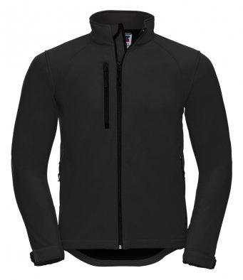mens classic softshell black jacket