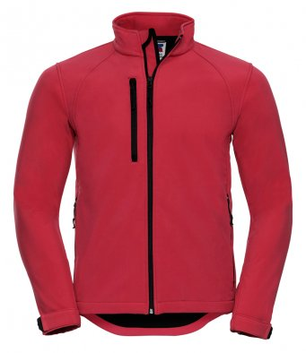 mens classic softshell classic red jacket