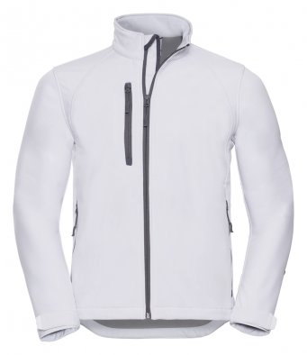 mens classic softshell white jacket