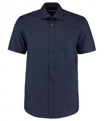 mens dark navy short sleeve work shirt