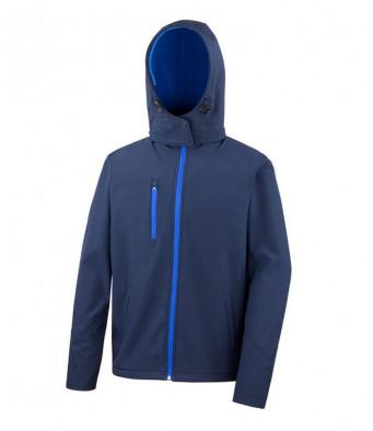 mens hooded softshell jacket navy royal