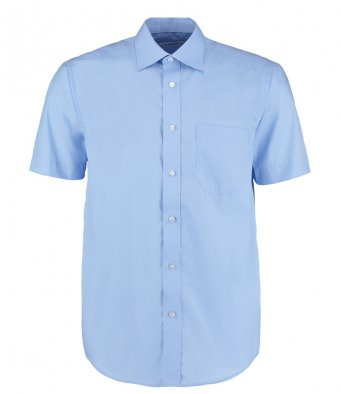 mens light blue short sleeve work shirt