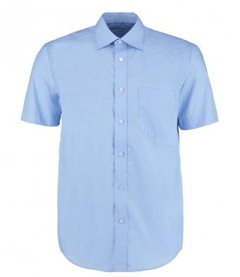 mens light blue short sleeve work shirt