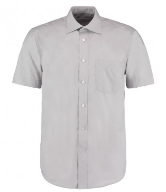 mens silver short sleeve work shirt