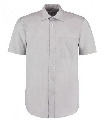 mens silver short sleeve work shirt
