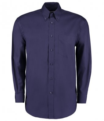 midnight navy long sleeve oxford shirt