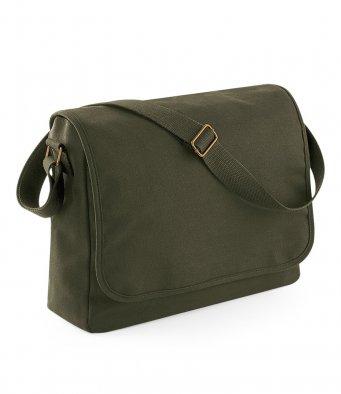 military green messenger bag