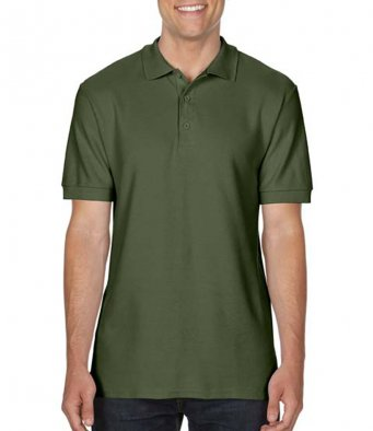 military green premium cotton polo shirt